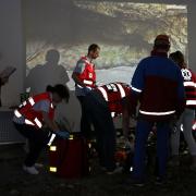zespół ratowników medycznych w akcji w zawodach symulacji medycznej SUM WARS2019