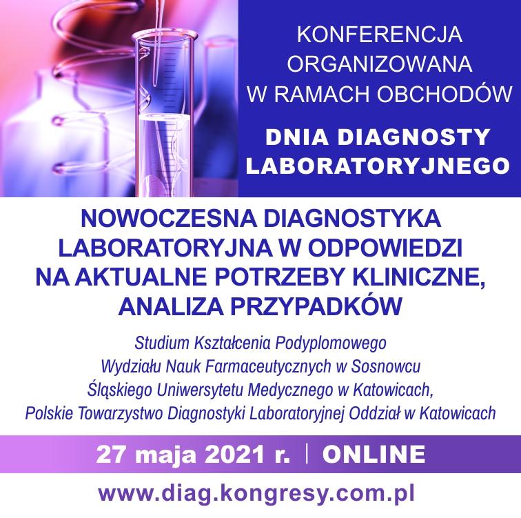 """plakat konferencji """"Dnia Diagnosty Laboratoryjnego"""""""