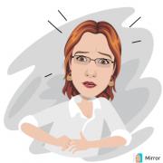 obrazek kobiety w białej bluzce