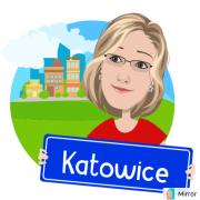 Kobieta z napisem Katowice.